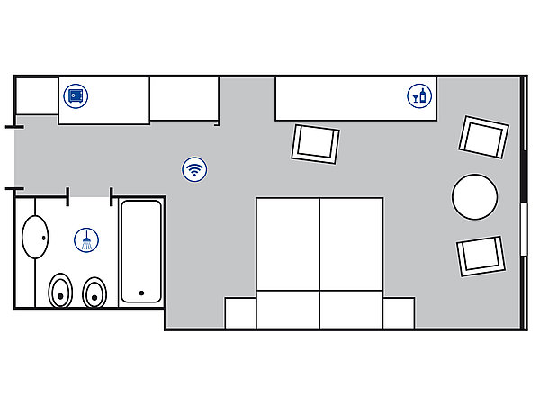 Room floor plan Classic room | Maritim Airport Hotel Hannover