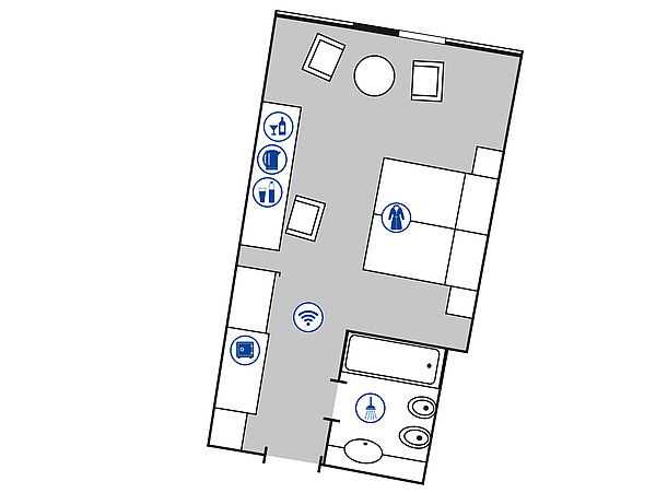 Room floor plan Superior room | Maritim Airport Hotel Hannover
