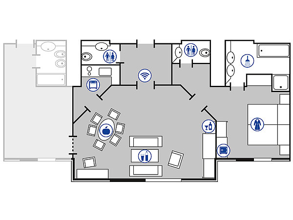 Room floor plan Presidential suite | Maritim Hotel Bad Wildungen