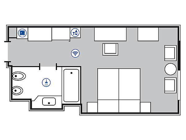 Room floor plan Superior room | Maritim Hotel Berlin