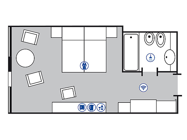 Room floor plan Superior room | Maritim Hotel Magdeburg