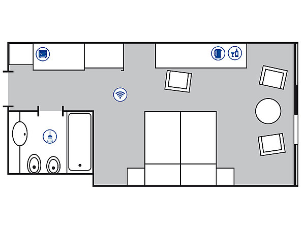 Room floor plan Comfort room | Maritim Airport Hotel Hannover