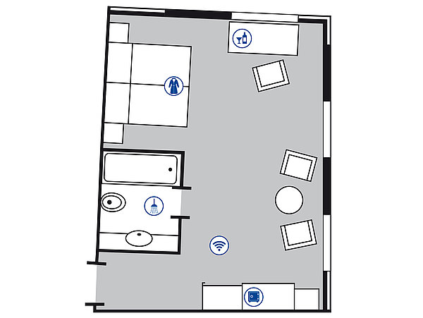 Room floor plan Superior room | Maritim Hotel Nürnberg