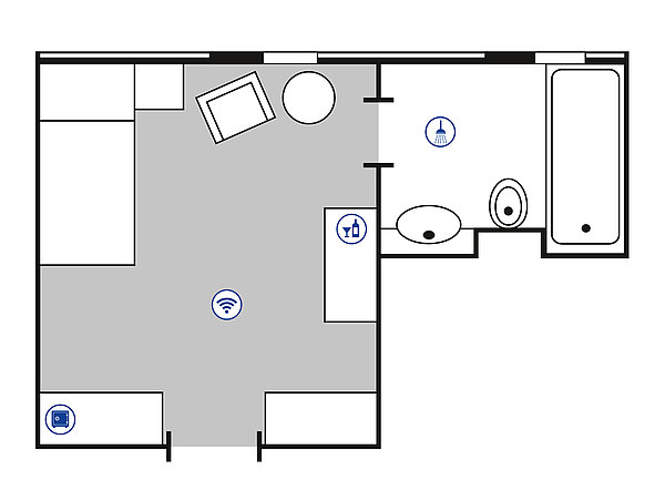 Room floor plan Classic room | Maritim Hotel Bad Wildungen