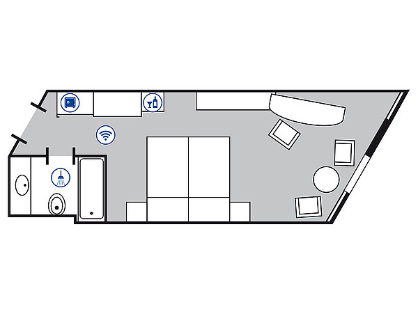 Room floor plan Comfort room | Maritim Hotel Bad Homburg