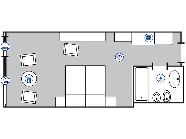 Room floor plan Superior room | Maritim ClubHotel Timmendorfer Strand