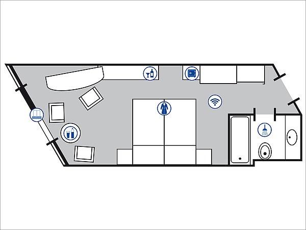 Room floor plan Superior room | Maritim Hotel Bad Homburg