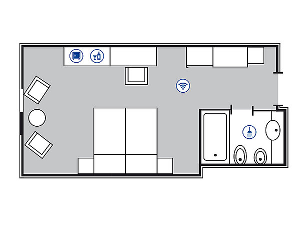 Room floor plan Superior room | Maritim Hotel Bonn
