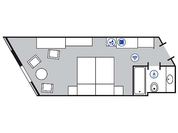 Room floor plan Classic room | Maritim Hotel Bad Homburg