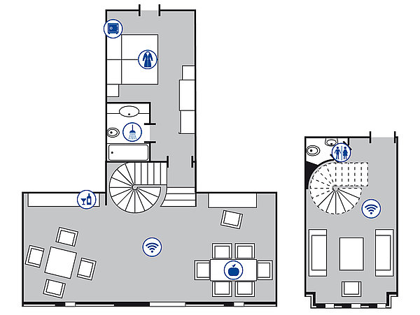 Room floor plan Senior Suite | Maritim Hotel Mannheim