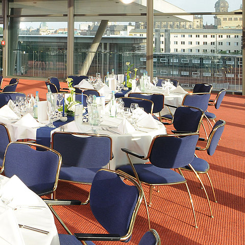 Meeting room banquet round tables | Maritim Hotel & Internationales Congress Center Dresden