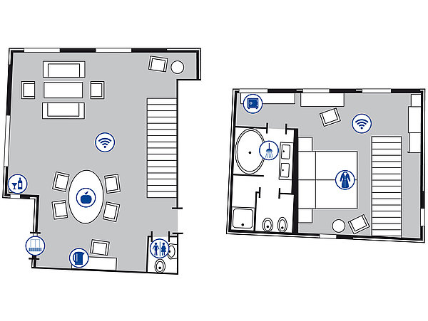 Room floor plan Royal Suite | Maritim Hotel Nürnberg