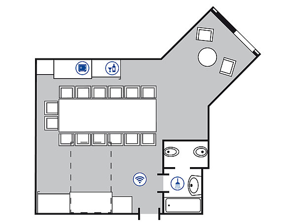 Room floor plan Conference suite | Maritim Airport Hotel Hannover