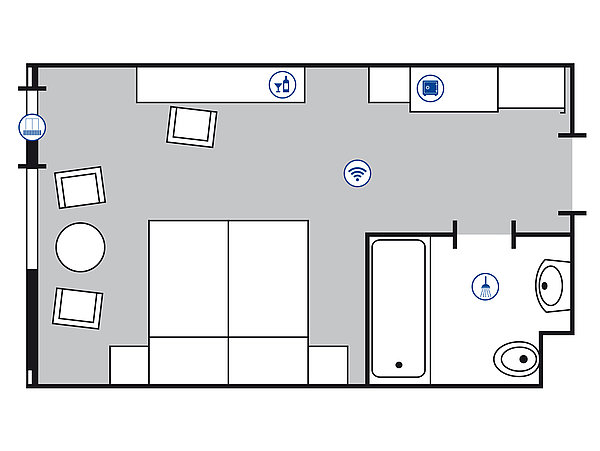 Room floor plan Classic room | Maritim Hotel Bad Salzuflen