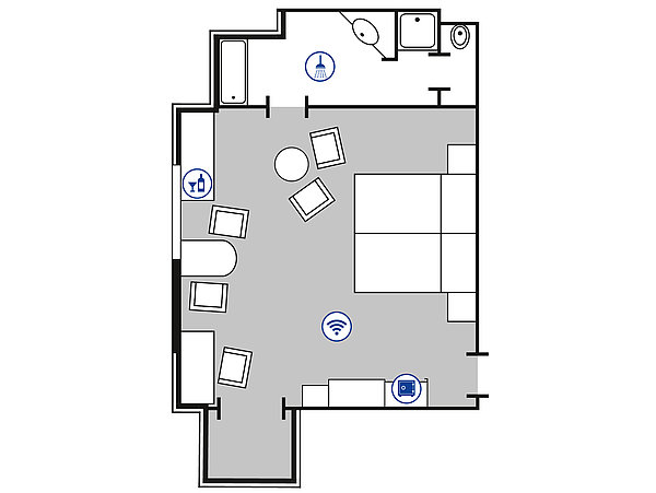 Room floor plan Superior room | Maritim Hotel Bad Wildungen