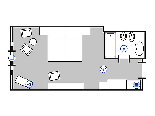 Room floor plan Comfort room | Maritim Hotel Bad Wildungen