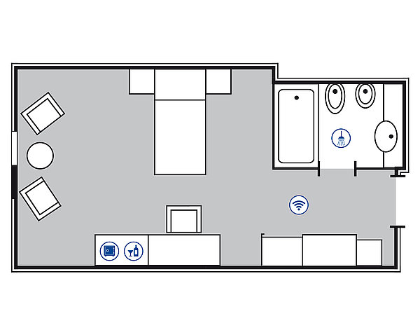 Room floor plan Classic room | Maritim Hotel Bonn