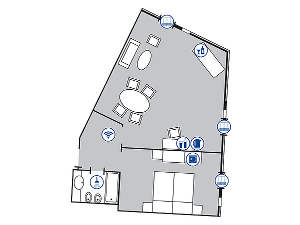Room floor plan Grand suite | Maritim Hotel Würzburg