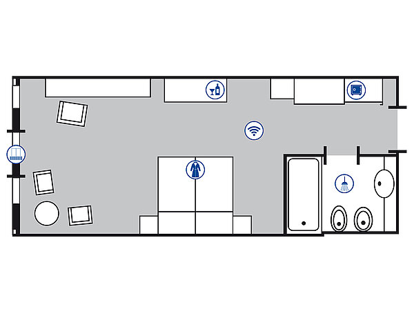 Room floor plan Superior room | Maritim TitiseeHotel