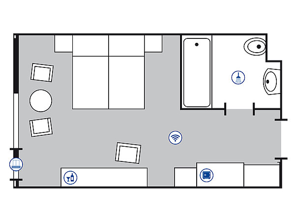 Room floor plan Superior room | Maritim Hotel Bad Salzuflen