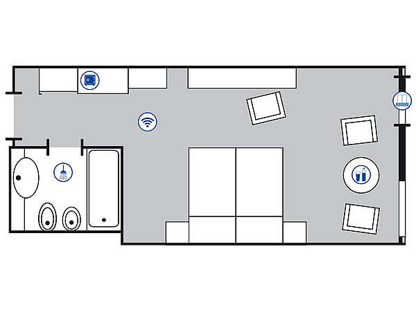 Room floor plan Classic room | Maritim ClubHotel Timmendorfer Strand