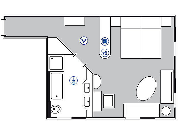 Room floor plan Superior Junior suite | Maritim Hotel Berlin